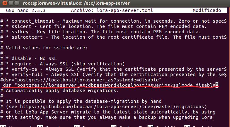 Storing device events into PostgreSQL database - LoRa App